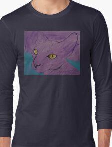 Purple Sphynx Long Sleeve T-Shirt