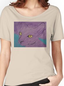 Purple Sphynx Women's Relaxed Fit T-Shirt