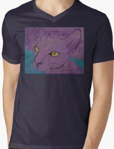 Purple Sphynx Mens V-Neck T-Shirt