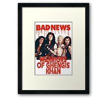 warriors of Ghengis Khan Framed Print