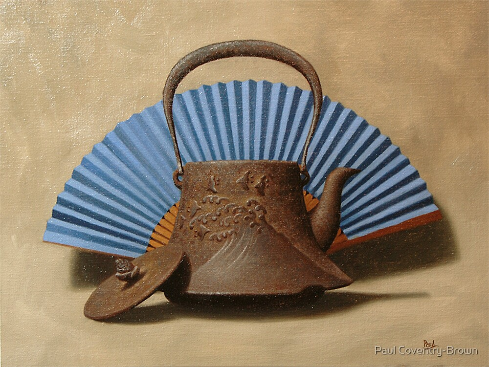 Old Cast Iron Japanese Kettle by Paul Coventry-Brown