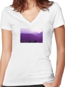 View - JUSTART © Women's Fitted V-Neck T-Shirt