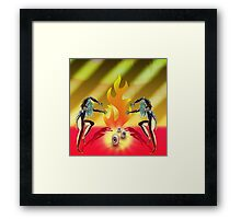 Get you in my tent... Framed Print