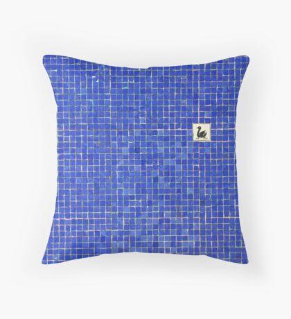 Lake in squares. Throw Pillow