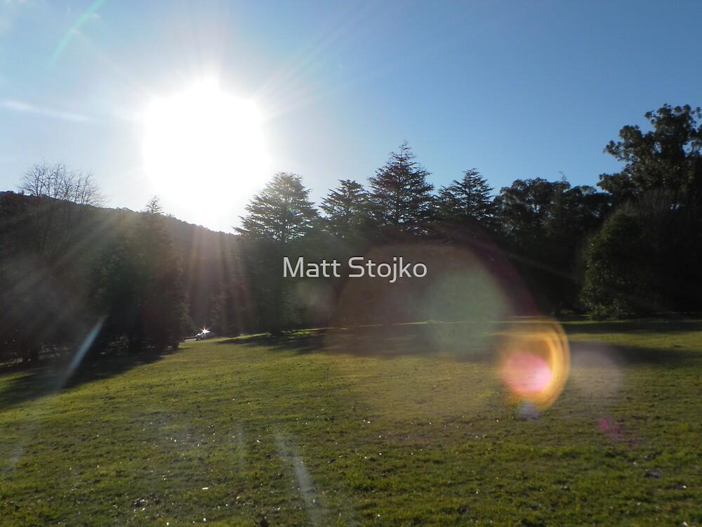 sunset throughout the dandenong's by Matt Stojko