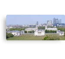 View from Greenwich park. Canvas Print