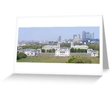 View from Greenwich park. Greeting Card