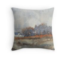 Greeting Card - Longfaugh Fort II, Watercolour - Sam Austrin-Miner Throw Pillow