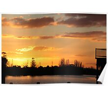 YELLOW SKY - SUNSET Poster
