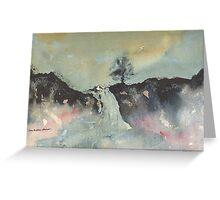 Greeting Card - Highland Falls - Perthshire, Watercolour - Sam Austrin-Miner Greeting Card