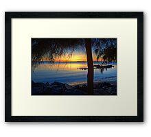 Suttons Beach • Redcliffe Framed Print