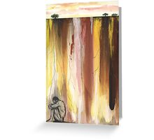 Man in the Corner  Greeting Card