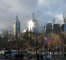 City - Man's Bright Star by Anthony Ogle