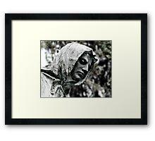 Hooded Man Framed Print