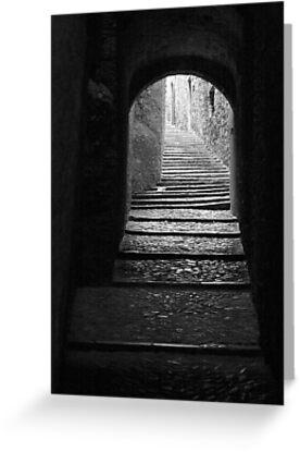 Alleyway in Girona, Spain by WestEndBlvd