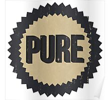 Pure Gasoline vintage sign reproduction Poster