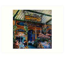 Le Bistro de la Gare, Montparnasse, Paris, France Art Print
