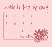 Watch Me Grow: Pink 1-12 One Piece - Long Sleeve