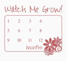 Watch Me Grow: Pink 1-12 One Piece - Short Sleeve