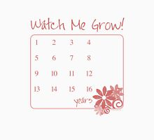 Watch Me Grow: Pink 1-16 Womens Fitted T-Shirt