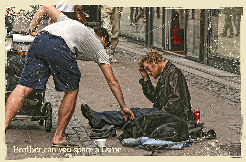 Brother can you spare a dime by © Kira Bodensted