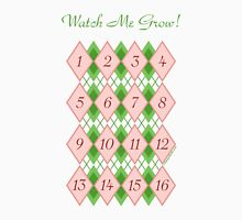 Watch Me Grow: Argyle 1-16 Womens Fitted T-Shirt
