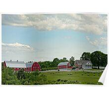 Rural Scene, New Gloucester, Maine Poster
