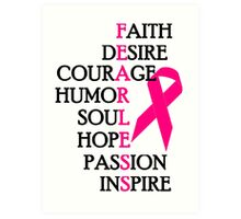 Fearless Breast Cancer Awareness Art Print