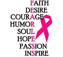 Fearless Breast Cancer Awareness Photographic Print