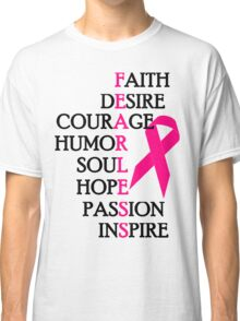 Fearless Breast Cancer Awareness Classic T-Shirt