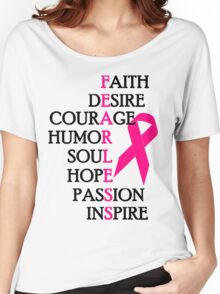 Fearless Breast Cancer Awareness Women's Relaxed Fit T-Shirt