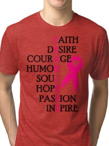 Fearless Breast Cancer Awareness Tri-blend T-Shirt