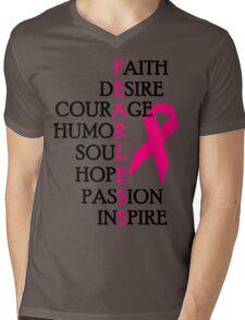 Fearless Breast Cancer Awareness Mens V-Neck T-Shirt