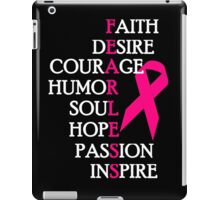 Fearless Breast Cancer Awareness iPad Case/Skin