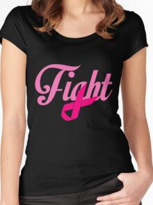 Fight Breast Cancer Awareness Women's Fitted Scoop T-Shirt