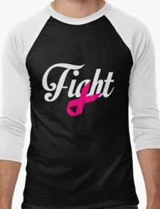 Fight Breast Cancer Awareness Men's Baseball ¾ T-Shirt