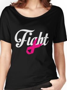 Fight Breast Cancer Awareness Women's Relaxed Fit T-Shirt