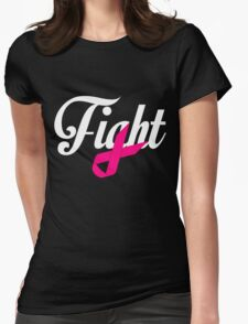 Fight Breast Cancer Awareness Womens Fitted T-Shirt