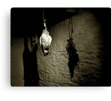 Hanging Fowl Canvas Print