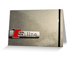 S-Line; Representing Power and Beauty Greeting Card