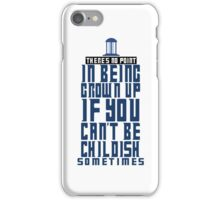 Doctor Who TARDIS Quote iPhone Case/Skin