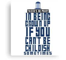 Doctor Who TARDIS Quote Canvas Print