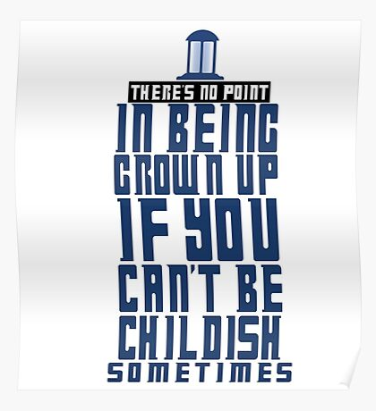 Doctor Who TARDIS Quote Poster