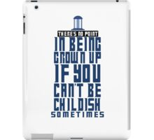 Doctor Who TARDIS Quote iPad Case/Skin