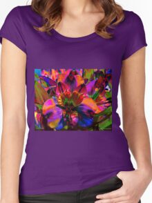Floral Festival Women's Fitted Scoop T-Shirt
