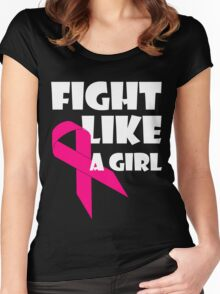 Fight Like A Girl Breast Cancer Awareness Women's Fitted Scoop T-Shirt