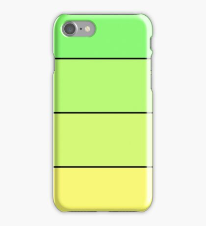 Colour Change Green - Yellow iPhone Case/Skin