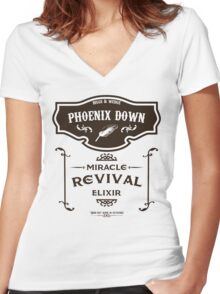 Phoenix Down - Miracle Revival Elixir Women's Fitted V-Neck T-Shirt