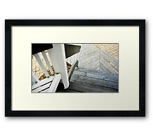 Stair Angles Framed Print