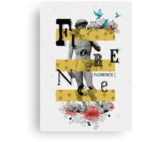 Collage italian Florence spirit Canvas Print